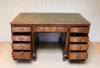 Large Mahogany Pedestal Desk (4 of 12)