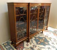 Mahogany Breakfront Bookcase (3 of 6)