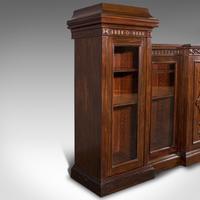 Huge, 15 Foot Antique Glazed Bookcase, English, Mahogany, Victorian c.1880 (4 of 12)