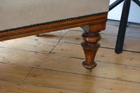Edwardian Mahogany Framed Chaise Longue with Button Back Upholstery (8 of 12)