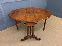 Large Victorian Burr Walnut Sutherland Table (9 of 16)