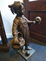 A Bronze Of A Young Girl With A Basket Full Of Apples (7 of 7)