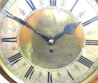 English Dial Wall Clock Rare Station Public Fusee Dial Wall Clock by Sam Aldworth at Childrey Berkshire (5 of 12)