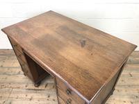 Early 20th Century Oak Kneehole Desk (13 of 14)
