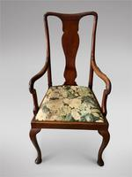 Set of Six 19th Century Queen Anne Style Dining Chairs (2 of 6)