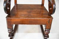 Antique Victorian Mahogany Rocking Chair (8 of 12)