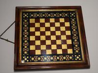 Most Attractive Mid 19th Century a Verre Eglomisé Chessboard (2 of 2)