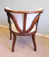 Antique Mahogany Occasional Armchair (7 of 7)