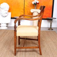 Armchair Fruitwood Desk Library Chair 19th Century Victorian Carved (3 of 11)
