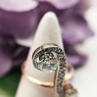Antique Edwardian 15ct Gold Diamond & Sapphire Upfinger Dress Ring (10 of 12)