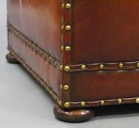 Very Large Victorian Leather Ottoman (6 of 7)