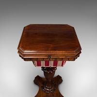 Antique Sewing Table, English, Ladies Work Box, Side, Early Victorian c.1850 (9 of 12)