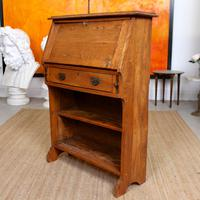 Oak Bureau Arts & Crafts Writing Desk Chest Edwardian Slim (3 of 12)