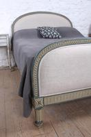 Attractive French Newly Upholstered King Size Bed (5 of 6)