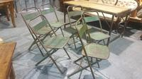 Six Metal Folding Dining Chairs (5 of 6)