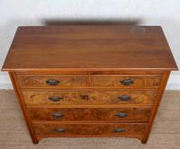 Chest of Drawers Burl Walnut Victorian (4 of 11)