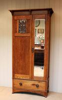 Small Proportioned Oak Arts & Crafts Wardrobe (2 of 9)