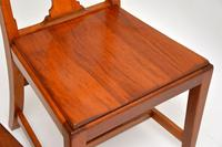 Pair of Art Deco Vintage Solid Mahogany Side Chairs (3 of 11)