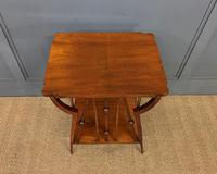 Arts & Crafts Walnut Occasional Table (6 of 6)