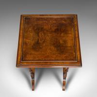 Antique Trio of Nest Tables, English, Walnut, Mahogany, Nesting, Side, Edwardian (10 of 12)