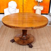William IV Rosewood Breakfast Table Tilt Top Dining Console (11 of 11)