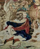 Large Beautiful Framed Original 19thc German Berlin Needlework Tapestry Picture (14 of 15)