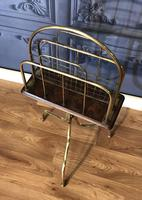 Victorian Brass & Oak Revolving Paper Rack by William Tonks (6 of 7)