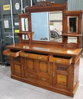1910's Good Large Carved Oak Sideboard with Mirror Back (2 of 7)
