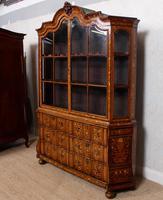 Dutch Bombe Bookcase Vitrine Display Cabinet on Chest Glazed (6 of 17)