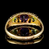 Antique Suffragette Ring Amethyst Peridot Diamond 18ct Gold S Blanckensee And Son Dated 1917 (4 of 8)