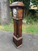 Small Georgian Oak Weight Drive Granddaughter Clock (2 of 12)