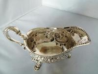 Large and impressive Georgian Silver Sauce Boat / Gravy Boat (6 of 7)