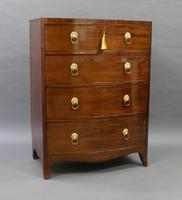 Small Regency Bow-fronted Chest of Drawers (3 of 6)