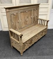 Bleached Oak Hall Bench (3 of 15)