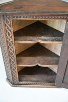 Antique Carved Oak Corner Cabinet (10 of 12)