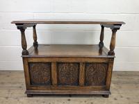 Antique Carved Oak Monks Bench Hall Seat (8 of 10)