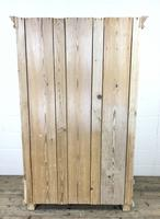 Antique Pine Two Door Wardrobe with Drawer (10 of 10)