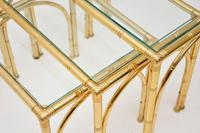Vintage Brass Faux Bamboo Nest of Tables (9 of 9)