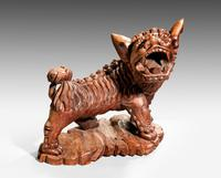 Late 19th Century Carved Wooden Dog (2 of 6)