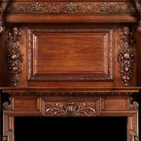 Grand Antique 19th Century Carved Walnut Fire Surround Provenance Castle Levan Manor (2 of 6)