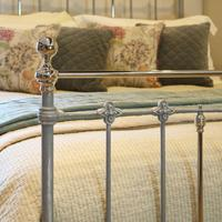 Antique Bed with Nickel Plating (3 of 9)