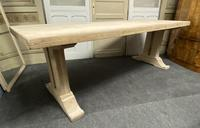 Large Bleached Oak French Farmhouse Dining Table (18 of 23)