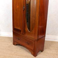 Edwardian Wardrobe Inlaid Mahogany Mirrored (9 of 10)
