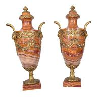 Pair of French Marble Urns Amphora Cassoulets Empire 1890 (2 of 16)