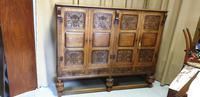 Superb Carved Oak Cupboard on Stand (30 of 34)