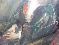 Large Oil on Canvas Portrait of Carolyn Royal Academy Artist Margaret Milne 1970 (5 of 10)