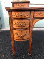 Inlaid Satinwood Carlton House Desk By Maple & Co (16 of 16)