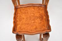Antique Burr Walnut Pie Crust Nest of Tables (5 of 8)