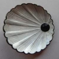 Silver & Enamel Norwegian Shell Brooch (6 of 9)