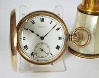 1930s Dreadnort Half Hunter Pocket Watch by Cyma (2 of 6)